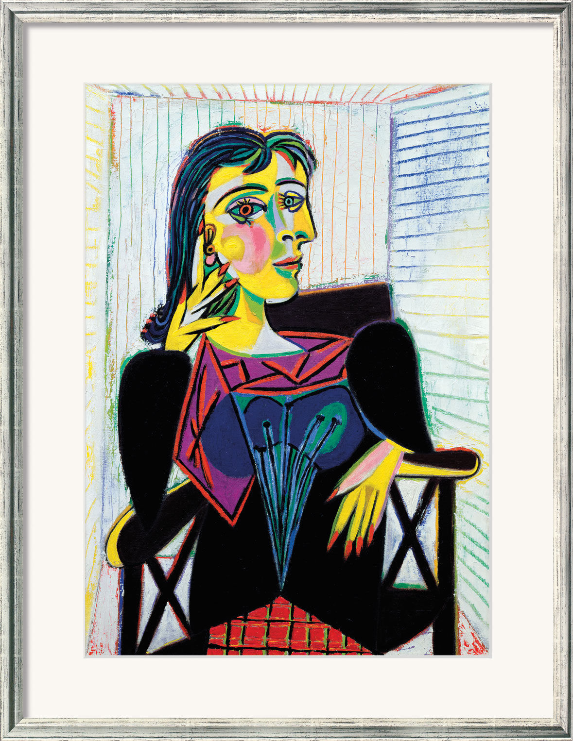 pablo picasso bild dora maar 1937 gerahmt ars mundi. Black Bedroom Furniture Sets. Home Design Ideas