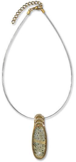 "Petra Waszak: Necklace ""Water Snake"" - after Gustav Klimt"