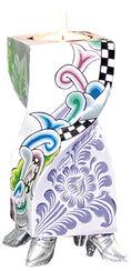 "Kerzenleuchter ""Ronda"" (Größe S, Höhe 20 cm), handbemalt"