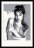 "Bild ""Angelina Jolie"" (2012), gerahmt"
