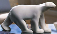 "Sculpture ""Large Polar Bear"", artificial marble"