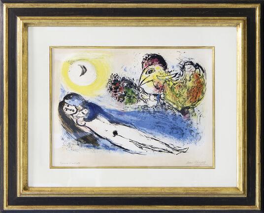 "Marc Chagall: Bild ""Good Morning over Paris"" (1952)"