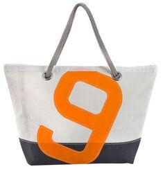 "Maritime Sailcloth-Bag ""Sailbag Carla"", The Blue and Orange Version"