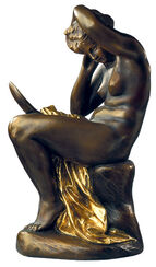 "Sculpture ""Girl with Mirror"" (ca. 1875), version in polymer bronze"