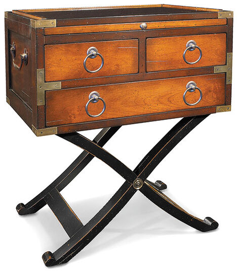 """Bombay Box"" cabinet of cherry wood"