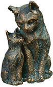 "Garden sculpture ""Cat with kitten"", bronze"