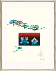 "Bild ""Orchidee II"", WVZ-Nr. 725, gerahmt"