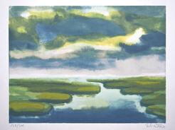 """Bild""""Flusslandschaft"""" (1980)"""