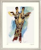 """Bild """"Giraffe (Wilderei)"""" - aus Bilderzyklus """"Bedrohte Tierwelt"""", gerahmt"""