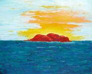 """Bild """"Red Rock"""" (1991) (Original / Unikat), ungerahmt"""