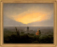 "Painting ""Moonrise on Sea"" (1821) in a frame"
