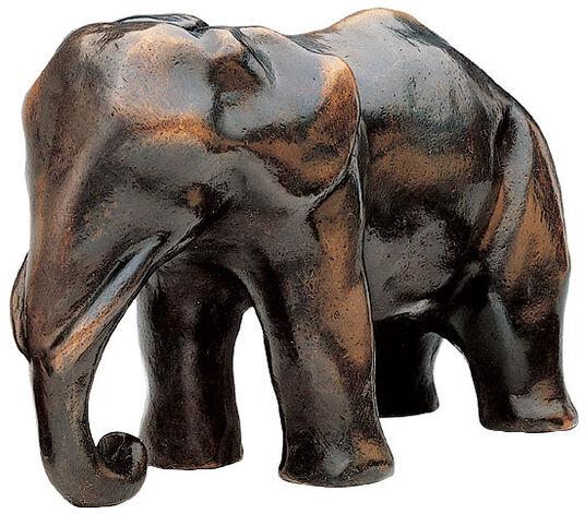 """Mechtild Born: Skulptur """"Elefanten Mutter"""", Bronze"""