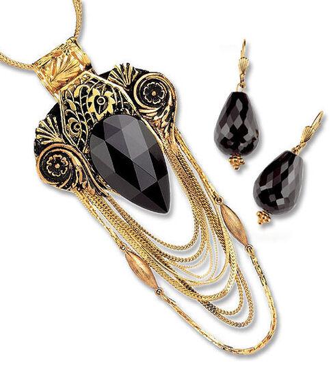 Petra Waszak: Jewelry set 'Judith' - after Gustav Klimt