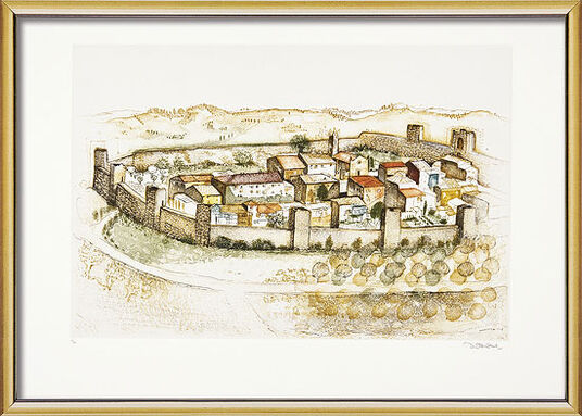 "Simon Dittrich: Bild ""Monteriggioni"" (1999), gerahmt"