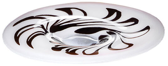 "Glass dish ""White Meets Black"""