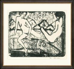 """Bild """"Zwei auf dem Sofa sitzende Mädchen"""" (1912-14)"""