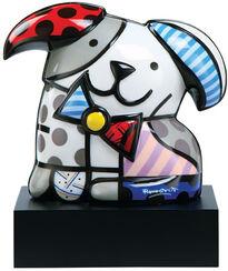 """Porcelain Sculpture """"Dog Ginger"""", Hand Painted"""