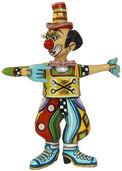 """Skulptur """"Clown Max"""", handbemalt"""