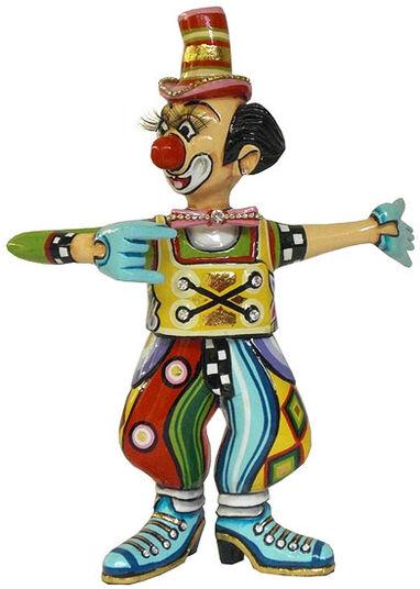 "Thomas Hoffmann / Tom's Drag: Skulptur ""Clown Max"", handbemalt"