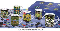 Magic Mugs 6 part set, porcelain