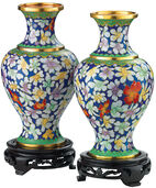 2 Cloisonné-Vases in set