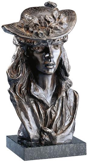 """Auguste Rodin: Skulptur """"Das Mädchen mit dem Rosenhut"""", Version in Kunstbronze"""