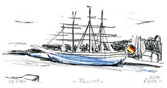 """Karsten Kusch: Bild """"Passat im Hafen"""" (2010), ungerahmt"""