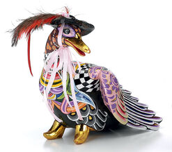 "Fashion Duck ""Barbra"", Hand Painted"