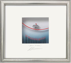 """3D-Painting """"Tightrope Walking"""", Framed"""