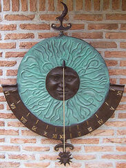 "Great Wall sundial ""Helios"", Bronze"