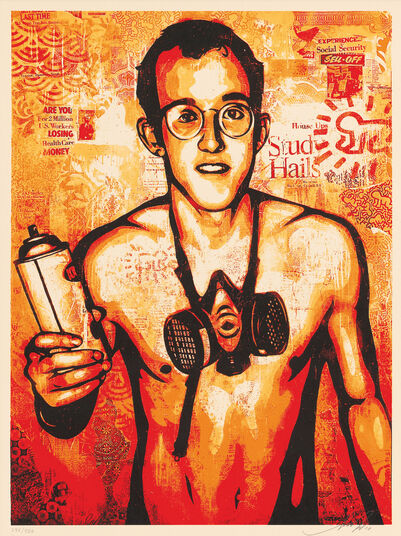 "Shepard Fairey: Bild ""Keith Haring"" (2010)"