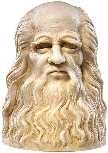 "Leonardo da Vinci: ""Bust"", artificial marble edition"