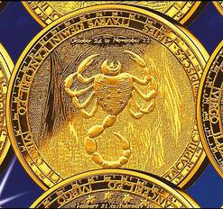 """Zodiac-plated necklace """"Scorpio"""", silver"""