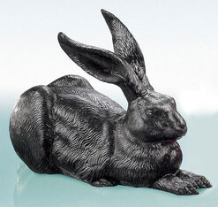 "Sculpture ""The Great Rabbit (black)"" (2003)"