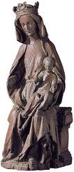 "Skulptur ""Maria mit dem Kind"", Kunstguss"
