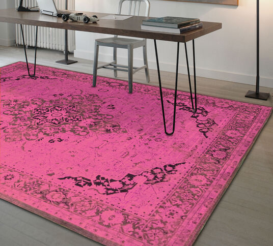 "Ulrike Broermann: Teppich ""Baio"" (170 x 240 cm), pinke Version"