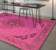 "Teppich ""Baio"" (200 x 280 cm), pinke Version"