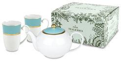 Tealicious celadon-gold: Teekanne und 2 Becher im Set