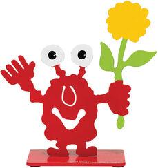 """Skulptur """"Monsterfreund mit Blume"""""""