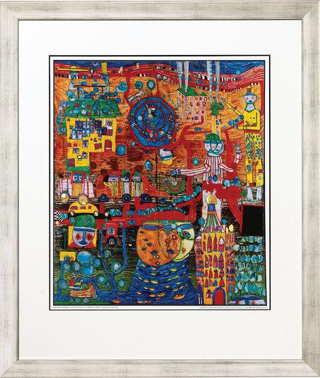 "Friedensreich Hundertwasser: Painting ""(936) The 30 Day Fax"""