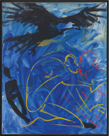 "Helge Leiberg: Bild ""Ohne Titel"" (1996) (Unikat)"