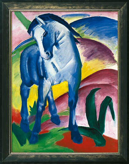 "Franz Marc: Picture ""Blue Horse I"" (1911)"