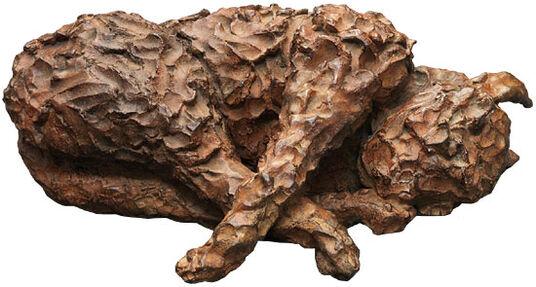 "Jonny Star: Skulptur ""Wachen (Luxkatze)"" (2009), Bronze"