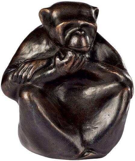 "Mechtild Born: Skulptur ""Affe"", Bronze"