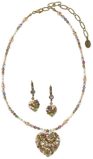 "Michal Golan: Jewelry set ""Heart Flowers"""