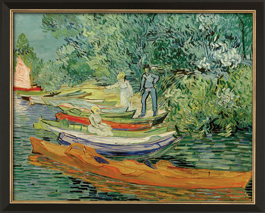 "Vincent van Gogh: Bild ""Am Ufer der Oise in Auvers"" (1890), gerahmt"