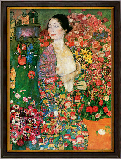 """Gustav Klimt: Picture """"The Dancer"""" (1916-18) in a frame"""