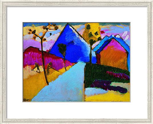 "Wassily Kandinsky: Bild ""Kochel - Gerade Straße"" (1909), gerahmt"