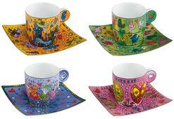 """4-Piece Set of Espresso Cups """"Espresso Life"""""""