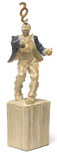 """Roman Johann Strobl: Sculpture """"Jurist"""""""